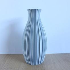 Wavy Decoration Vase, Silver, Slimprint 1.jpeg Download STL file Wavy Decoration Vase, (Vase Mode)  • 3D printing design, Slimprint