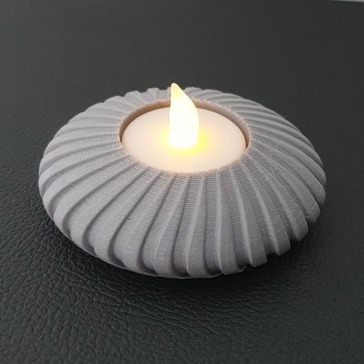 Download STL file Disc Tealight Holder • 3D print object, Slimprint