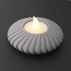 20200830_174421-01.jpeg Download STL file Disc Tealight Holder • 3D print object, Slimprint