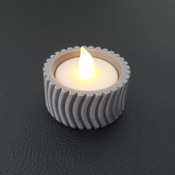 20200830_174510-01.jpeg Download STL file Small Textured Tealight Holder • 3D printable object, Slimprint