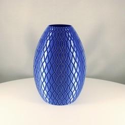 Checkered Decoration Vase 1.jpeg Télécharger fichier STL Vase de décoration à carreaux, (mode vase) • Design imprimable en 3D, Slimprint
