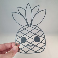 20200529_121833-01.jpeg Download STL file Positive Pineapple Paul - 2D Fruit • Model to 3D print, Slimprint