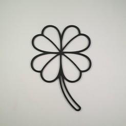 Download 3D printing files Four-leaf Clover - 2D Sculpture - Wall art, Slimprint