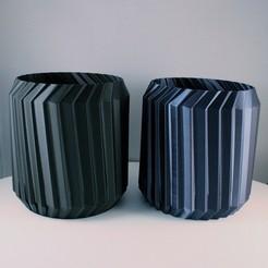 "20200620125008_IMG_3536-01.jpeg Download STL file Geometric Planter ""Zig Zag"", vase mode  • 3D printing object, Slimprint"