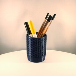 Honeycomb Pencil Holder by Slimprint 1.jpeg Download free STL file Honeycomb Pencil Holder • 3D print design, Slimprint