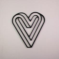 Download 3D printing files Valentines Heart, love sign, Slimprint