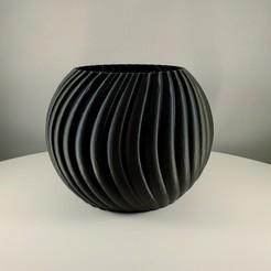 Sphere planter by Slimprint 1.jpeg Download STL file Sphere Planter Wavy - (Vase mode) • 3D print template, Slimprint
