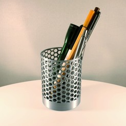 Honeycomb Pencil holder by Slimprint 1 .jpeg Télécharger fichier STL gratuit Porte-crayon en nid d'abeille • Plan imprimable en 3D, Slimprint