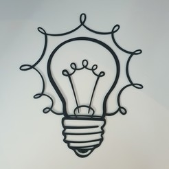20200531_201302.jpg Download STL file Light Bulb, Creative 2D Wall Art • Design to 3D print, Slimprint