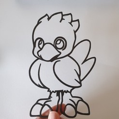 20200420_184225-01.jpeg Download STL file Chocobo - Final Fantasy Fan Art - 2D  • 3D printable template, Slimprint