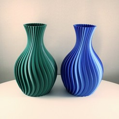 """Spiral vase by slimprint 1.jpeg Télécharger fichier STL Vase en spirale, impression """"Vase Mode • Objet pour imprimante 3D, Slimprint"""