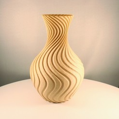 """20200807163509_IMG_5800-01.jpeg Download STL file Swoosh Vase, """"Vase mode"""" print • Object to 3D print, Slimprint"""