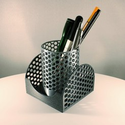 Honeycomb Pencil holder by Slimprint 5.jpeg Télécharger fichier STL gratuit Porte-crayons en nid d'abeille + boîte de rangement des mémos - ensemble • Plan pour imprimante 3D, Slimprint
