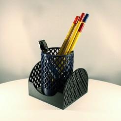 Diamond Pencil holder slimprint 4.jpeg Télécharger fichier STL Porte-crayon diamant + boîte à mémos - ensemble • Plan imprimable en 3D, Slimprint