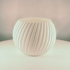 Sphere Planter striped 1.jpeg Télécharger fichier STL gratuit Planteur de sphère rayé - (Mode vase) • Plan à imprimer en 3D, Slimprint
