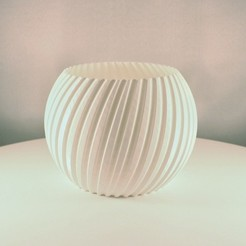 Sphere Planter striped 1.jpeg Download free STL file Sphere Planter Striped - (Vase Mode) • 3D printer design, Slimprint