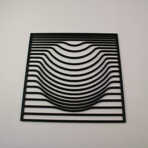 Download 3D model Black Hole Optical Illusion - 2D Wall Art, Slimprint