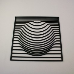 20200201141232_IMG_0011-01.jpeg Download STL file Black Hole Optical Illusion - 2D Wall Art • Template to 3D print, Slimprint