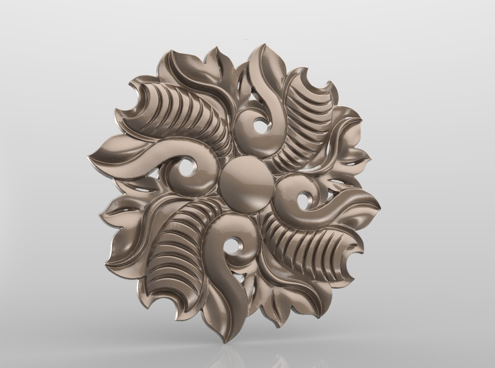 Rozetka_022.jpg Download free STL file Vintage mouldings for old classic apartments cnc art router machine 3D printed • Design to 3D print, STLmodelforfree
