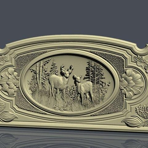 Download free 3D printer designs deer frame cnc, STLmodelforfree