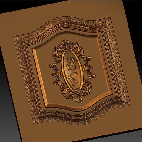 13.jpg Download free STL file pack of frame cnc art for home decoration renaissance style • 3D print object, STLmodelforfree