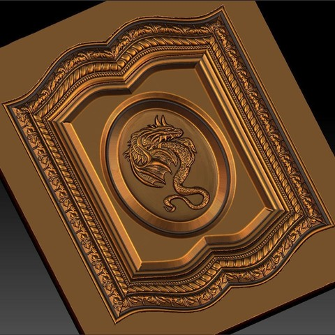 14.jpg Download free STL file pack of frame cnc art for home decoration renaissance style • 3D print object, STLmodelforfree