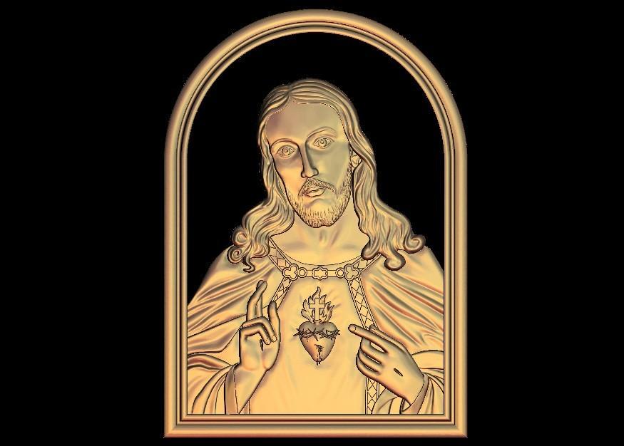 19.jpg Download free STL file Jesus christ love heart • 3D printer model, STLmodelforfree