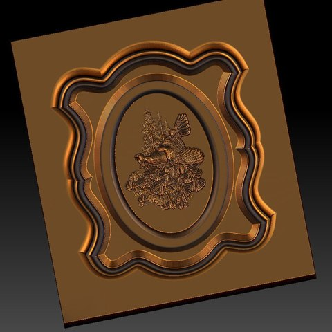 8.jpg Download free STL file pack of frame cnc art for home decoration renaissance style • 3D print object, STLmodelforfree