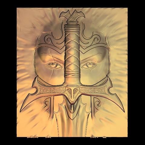 Download free 3D printer designs warrior sword, STLmodelforfree