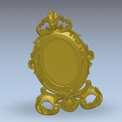 Download free 3D printing templates Mirror decoration renaissance art, STLmodelforfree