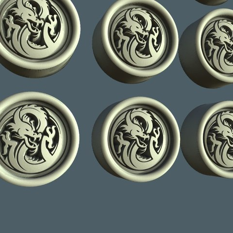 fishki.jpg Download free STL file Dragon token • 3D print model, STLmodelforfree