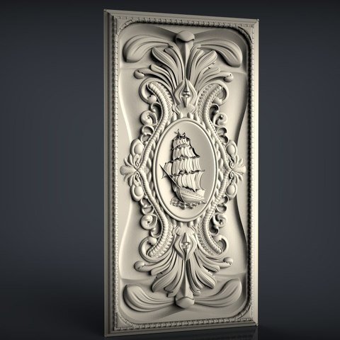 Download free 3D printer designs frame ship renaissance cnc, STLmodelforfree