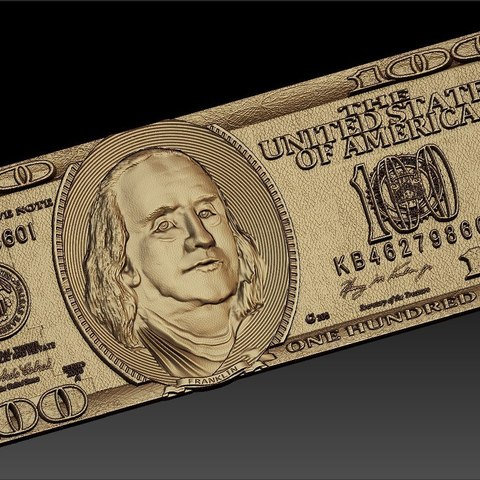 Download free 3D printing files 100 american dollar cnc art, STLmodelforfree