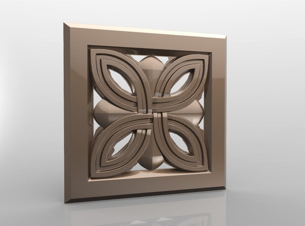 Rozetka_05.jpg Download free STL file Vintage mouldings for old classic apartments cnc art router machine 3D printed • Design to 3D print, STLmodelforfree