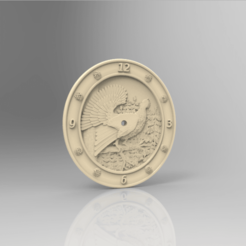 Download free 3D printing models pheasant clock, STLmodelforfree