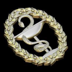 Download free 3D printer templates snake art decoration, STLmodelforfree