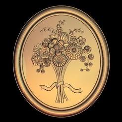 Télécharger plan imprimante 3D gatuit décoration fleurs renaissance, STLmodelforfree