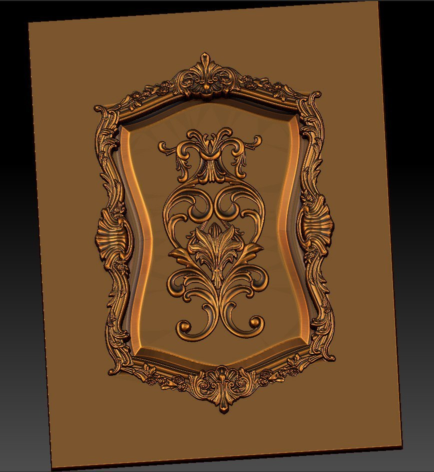 11.jpg Download free STL file pack of frame cnc art for home decoration renaissance style • 3D print object, STLmodelforfree