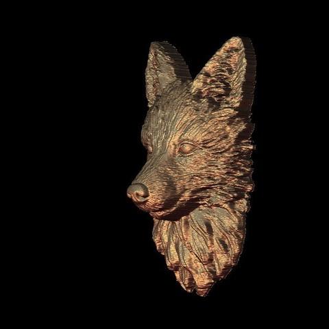 446.jpg Télécharger fichier STL gratuit belle sculpture de chien • Plan à imprimer en 3D, STLmodelforfree