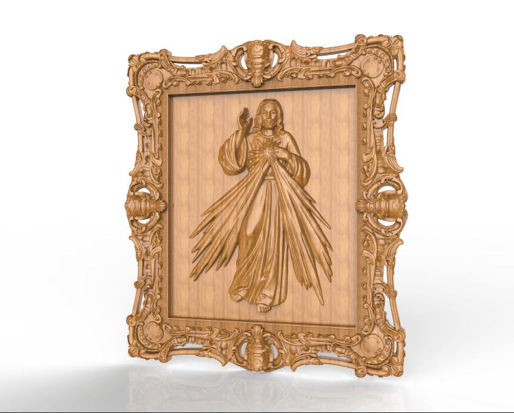Screenshot_416.png Download free STL file jesus christ cnc frame art • 3D printable template, STLmodelforfree