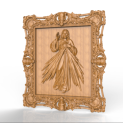 Screenshot_416.png Download free STL file jesus christ cnc frame art • 3D printable template, STLmodelforfree