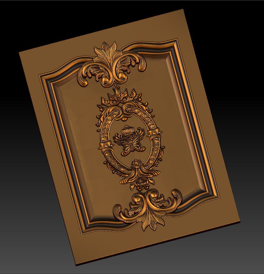 3.jpg Download free STL file pack of frame cnc art for home decoration renaissance style • 3D print object, STLmodelforfree