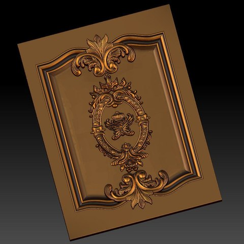 Download free STL pack of frame cnc art for home decoration renaissance style, STLmodelforfree