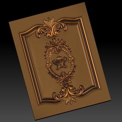 Free 3D printer designs pack of frame cnc art for home decoration renaissance style, STLmodelforfree