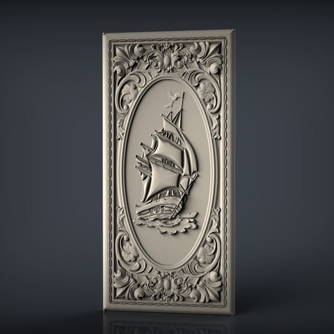 Download free 3D printing designs frame renaissance ship boat cnc, STLmodelforfree