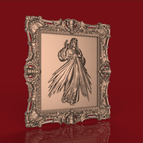 Screenshot_418.png Download free STL file jesus christ cnc frame art • 3D printable template, STLmodelforfree