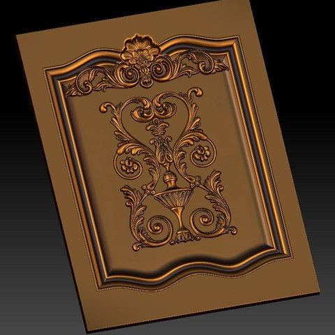 6.jpg Download free STL file pack of frame cnc art for home decoration renaissance style • 3D print object, STLmodelforfree