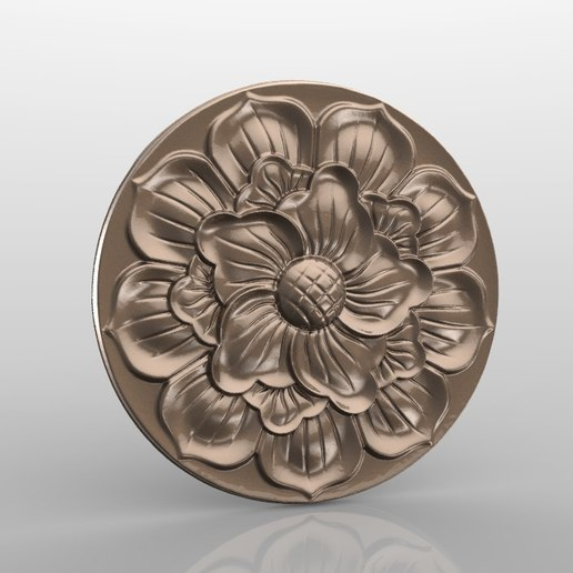 Rozetka_02.jpg Download free STL file Vintage mouldings for old classic apartments cnc art router machine 3D printed • Design to 3D print, STLmodelforfree