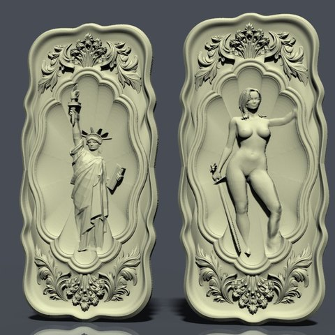 nardy9.jpg Download free STL file Naked woman and statut liberty new york • 3D printer template, STLmodelforfree