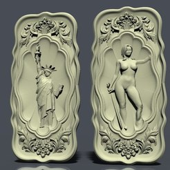 nardy9.jpg Download free STL file Naked woman and statut liberty new york • 3D printer template, STLmodelforfree